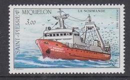 """St. Pierre & Miquelon 1987 Ship """"La Normande"""" 1v ** Mnh (32618N) - St.Pierre & Miquelon"""