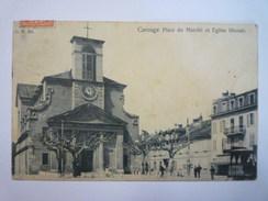 CAROUGE  :  Plce Du Marché Et Eglise Libérale  1905   - GE Ginevra