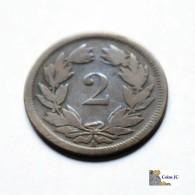 Suiza - 2 Rappen - 1851 - Schweiz