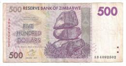 Zimbabwe 500 Dollars 2007 - Zimbabwe