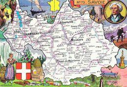 Carte Géographique Du Département De Savoie 73 - Illustration L.P. Pinchon - Carte Non Circulée - Mapas