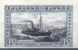 FALSA FALSCH FALKLAND ISLANDS  ISLAS MALVINAS AÑO 1933 CENTENARIO DE LA OCUPACION BRITANICA YVERT NR. 61 NON DENTELE MNH - Falkland Islands