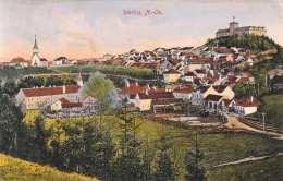 WEITRA 1918 NÖ Karte Rückseitig Mit Klebespuren (Karten Wurde Im Album Am Oberen Rand Eingeklebt) - Weitra