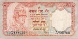 BILLETE DE NEPAL DE 20 RUPEES  (BANKNOTE) CIERVO-DEER - Nepal