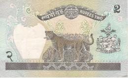 BILLETE DE NEPAL DE 2 RUPEES CALIDAD EBC (XF) (BANKNOTE) LEOPARDO - Nepal