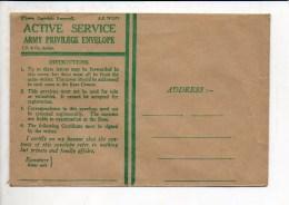 "Militaria - Grande Bretagne / Enveloppe Correspondance Vierge En Franchise  Active Service ""Army Privilège "" - Documents"