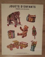 Affiche Jouets D'Enfants Grand Magasins Parisiens Ours En Peluche - éléphants... - Affiches