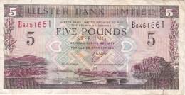 BILLETE DE IRLANDA DE 5 POUNDS DEL AÑO 1998  (BANKNOTE) ULSTER (RARO) - Irlanda