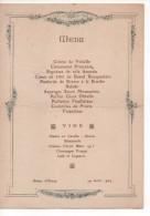 PALAIS D' ORSAY - MENU Du 29 Avril 1924 - Menus