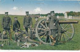 Feldpost - 1916 ,  Artillerie , Kanone Mit Mannschaft - Ausrüstung