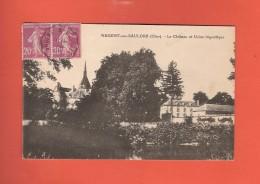 * CPA..dépt 18..ARGENT Sur SAULDRE  : Le Château Et Usine Frigorifique  :  Voir Les 2 Scans - Argent-sur-Sauldre