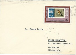 Birds On Stamps.Hungary Letter Via Yugoslavia - Oiseaux