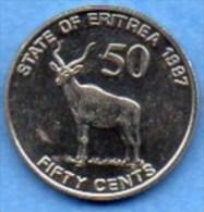 ERITREA / ERYTHREE  50 CENTS 1997  UNC / NEUVE - Eritrea