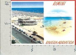 CARTOLINA NV ITALIA - RIMINI - Lungomare - Spiaggia - Vedutine - 10 X 15 - Rimini