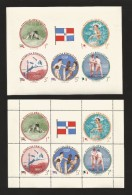 B)1957 DOMINICAN REPUBLIC, SPORT, GAMES, OLYMPIC GAMES, MASARU FURUKAWA, JAPAN, SHOLAM TAKHTI, IRAN, LIGHTWEIGHT WRESTLI - Dominican Republic