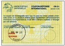 I529 IRC - International Reply Coupon, Sweden, 4.95 - Otros