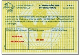 I531 IRC - International Reply Coupon, Netherlands, 10.98 - Material Postal