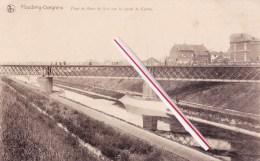 HOUDENG-GOEGNIES - Pont De Bois Du Luc Sur Le Canal Du Centre - Superbe  Carte - La Louvière