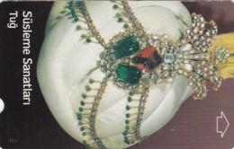 Turkey, N-209, Decoration Arts, Ottoman Head-dress, 2 Scans. - Türkei