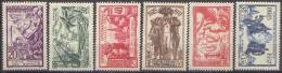 Détail De La Série Exposition Internationale De Paris ** Cote Des Somalis N° 141 à 146 - 1937 Exposition Internationale De Paris