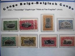 BELGISCH CONGO  NRS 54/63**+55a** (61*-62*) - Belgisch-Kongo