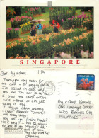 Mandai Orchid Garden, Singapore Postcard Posted 1996 Stamp - Singapour