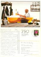 Man In Bathtub Of Beer, Germany Postcard Posted 2011 Stamp - Humor