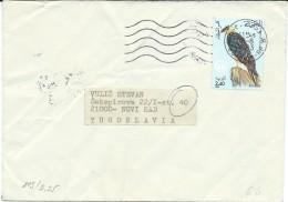 Birds On Stamps.Algeria Letter Via Yugoslavia - Oiseaux