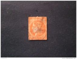 STAMPS FRANCE FRANCIA 1849 CERES 40 CENT ORANGE FONCE N 5 B (YVERT) OBLITERE - 1849-1850 Cérès