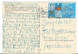 Birds On Stamps.Switzerland Postcard Via Yugoslavia.postcard Motive Davos - Oiseaux