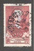 Perforé/perfin/lochung France No 335 R.P  Rhône Poulenc - France