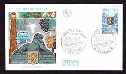 ENVELOPPE PREMIER JOUR - REGIONS DE FRANCE - BELFORT - 8 JANVIER 1977 - FDC