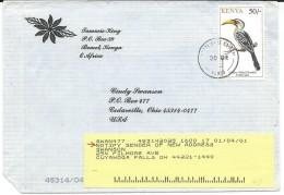 Birds On Stamps.Kenya Letter Via USA - Oiseaux