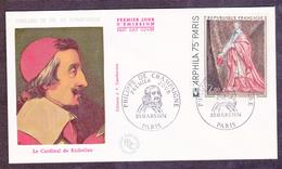 ENVELOPPE PREMIER JOUR - CARDINAL DE RICHELIEU - 23 MARS 1974 - FDC