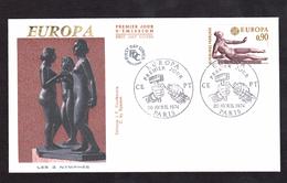ENVELOPPE PREMIER JOUR - EUROPA - LES 3 NYMPHES - 20 AVRIL 1974 - FDC