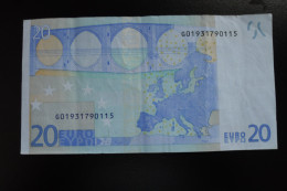 RRR RARE 20 EURO G CYPRUS TRICHET G010I2 - EURO