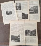 ANCIEN DOCUMENT 1905 VAUX NORMANDS TOURAILLES LA ROUVRE LES ROCHES D OITRE ROUVROU FLERS PONT ERAMBOURG - Collezioni