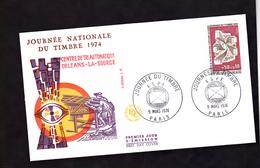 ENVELOPPE PREMIER JOUR - JOURNEE DU TIMBRE - 9 MARS 1974 - FDC