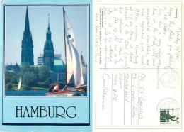 Hamburg, Germany Postcard Posted 1992 Stamp - Mitte