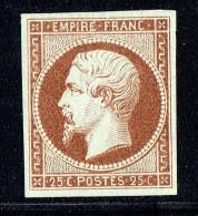 Empire Napoléon 25 Cent. Yv 15 Essai De Couleur Sur Baudruche   Brun Foncé - Proofs
