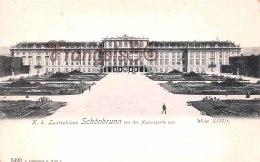 Vienne WIEN - Lustschloss Schonbrunn Von Der Neptungrotte Aus - Perfect Condition - 2 Scans - Château De Schönbrunn