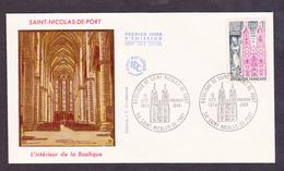 ENVELOPPE PREMIER JOUR - SAINT NICOLAS DE PORT- BASILIQUE - 12 OCTOBRE 1974 - FDC