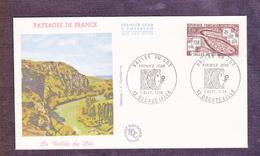 ENVELOPPE PREMIER JOUR - LA VALLEE DU LOT - 7 SEPTEMBRE 1974 - FDC