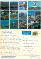 Trepassey Postmark, Multiview, Newfoundland, Canada Postcard Posted 1996 Stamp - Terre-Neuve & Labrador