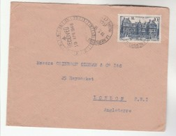 1948 La Membrolle Sur Choiseille FRANCE COVER 10f Palais Du Luxembourg Stamps From  SVF Wine Society Of France To GB - France