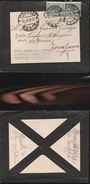 DOC2) COPPIA 5 CENTESIMI SU LETTERA LISTATA A LUTTO VIAGGIATA 1918 VERSO ZONA DI GUERRA FRONTE FRANCESE - 1900-44 Vittorio Emanuele III