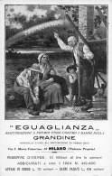 """06345 """"EGUAGLIANZA - ASSICURAZIONI CONTRO LA GRANDINE - MILANO"""" CART. ILL. ORIG. NON SPEDITA - Commercio"""