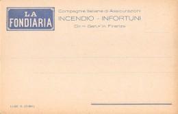 """06349 """"LA FONDIARIA - COMPAGNIE ITALIANE DI ASSICURAZIONI - FIRENZE"""" CART. ILL. ORIG. NON SPEDITA - Commercio"""