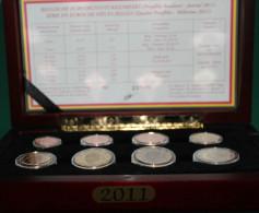 BELGIQUE KMS Proofset 2011 Dans Boîte En Acajou D'origine  Pièces (1 Cent à 2 €) - Euro Proof Set In Box - Belgium
