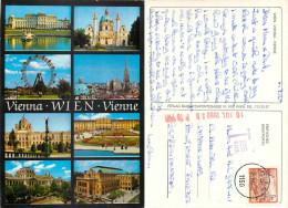Wien, Austria Postcard Posted 1990 Stamp + Postage Due Markings - Ohne Zuordnung